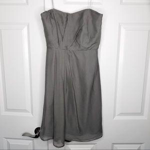 JCrew Grey Silk Chiffon Dress